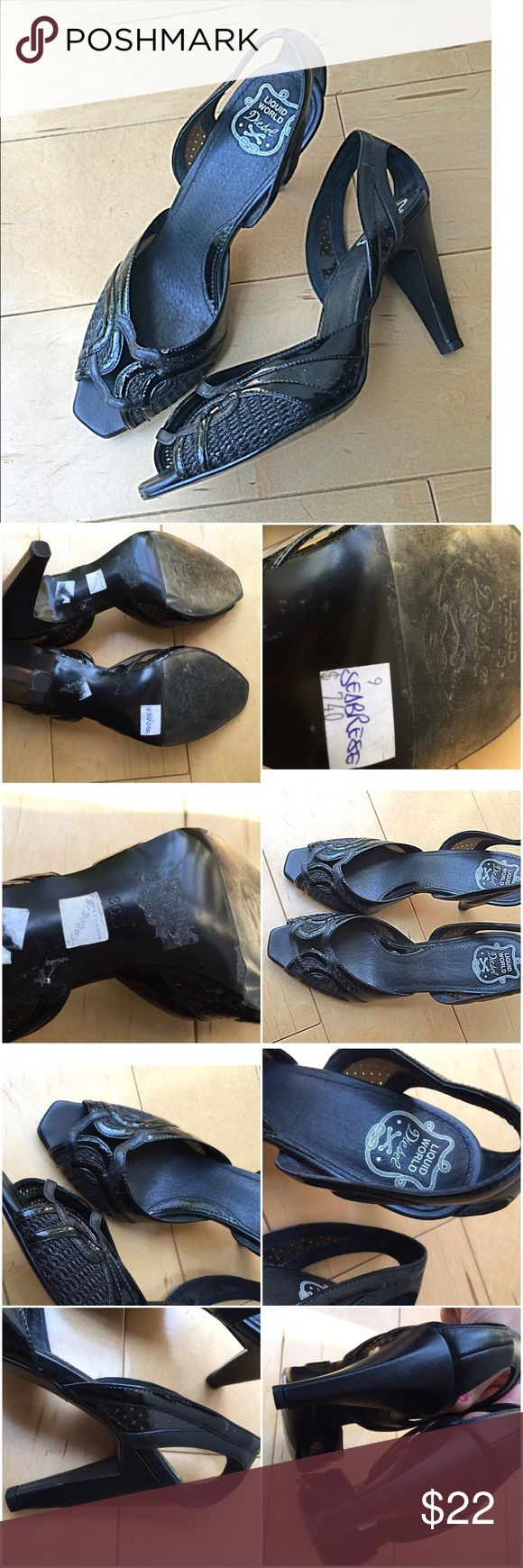 Diesel heels black Diesel black heels. Never worn, protective stickers and original price still attached. Diesel Shoes Heels