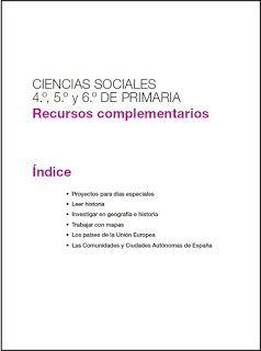 Ciencias sociales  4º E. primaria Proyecto Saber…