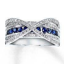 thin red and blue line ring | Thin blue line with diamonds? Yes please. | rings galore!