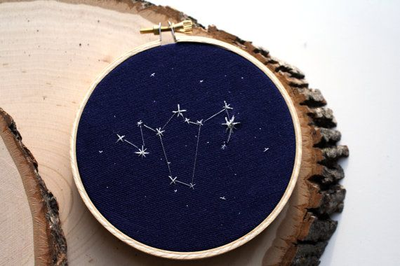 Phoenix Constellation Embroidery 4 Hoop by SargassoShop on Etsy, $20.00