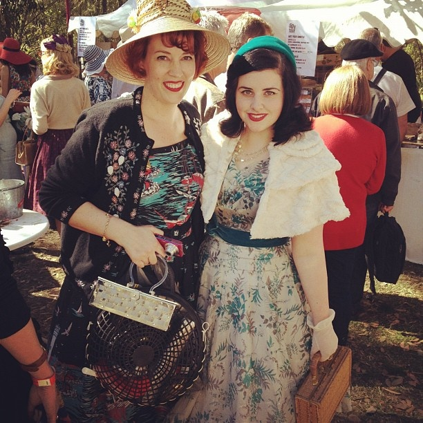 Michelle from Ravishing Retro and I at the Fifties Fair