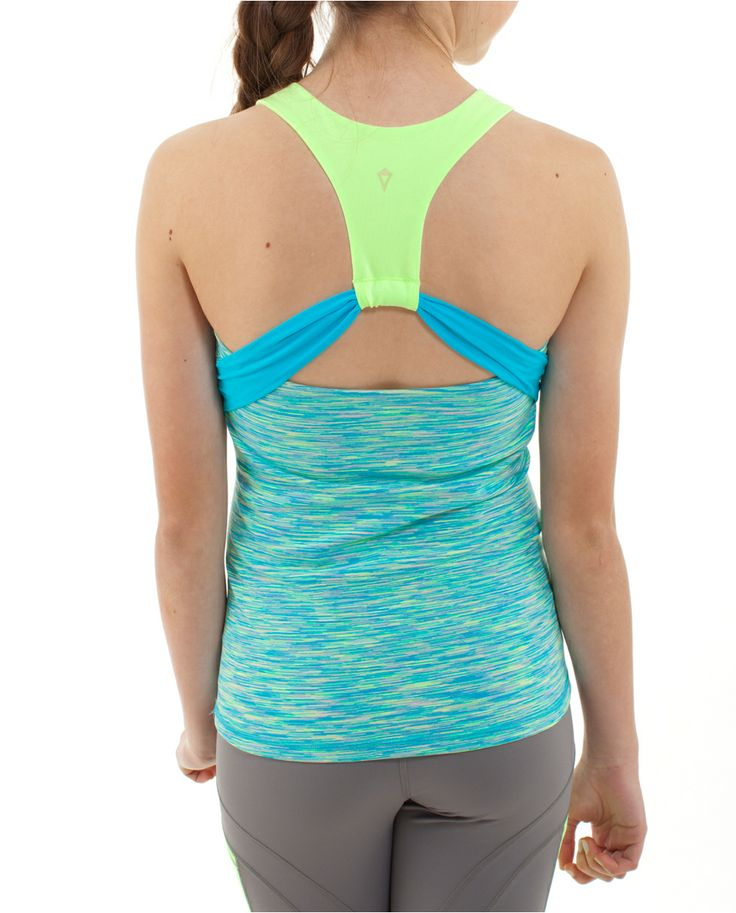 Cutout back offers ventilation, making this tank awesome for tennis matches and gym activities   Super Love Tank