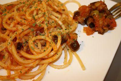 """La tana del coniglio: Spaghetti alla chitarra con sugo """"Ratatouille"""""""
