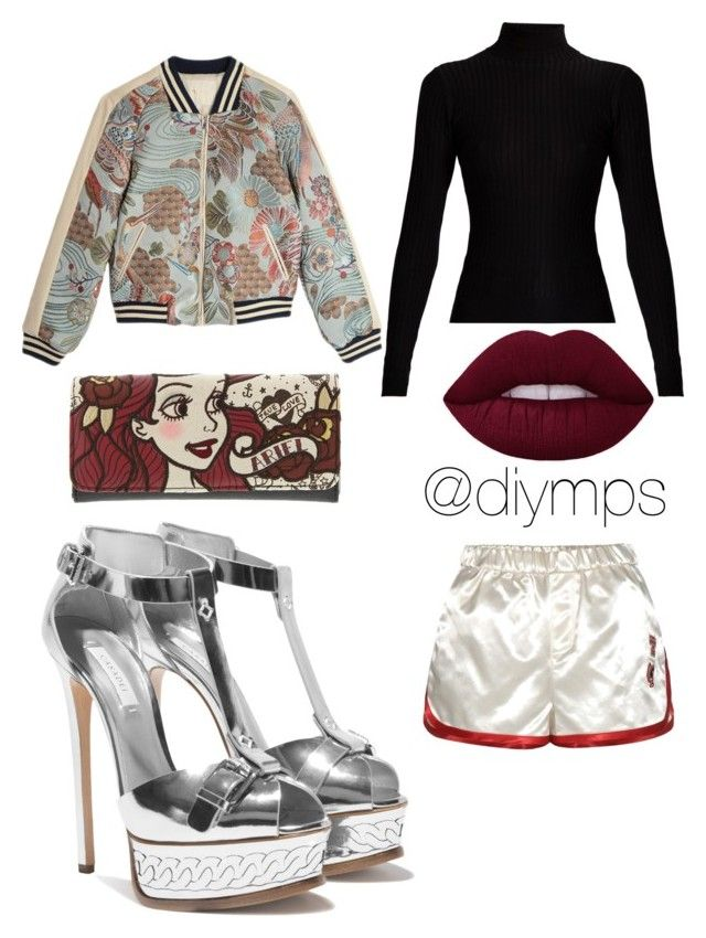 """🐠"" by petrasvetlanamelinte on Polyvore featuring Acne Studios, Maje, Loungefly and Tommy Hilfiger"