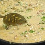 Chile Con Queso, Revved Up | The Pioneer Woman Cooks | Ree Drummond-   1 Velveeta,  1 Onion,  1 Hot Breakfast Sausage, 1 Rotel,  1 Green Chiles… 1  Jalapeno