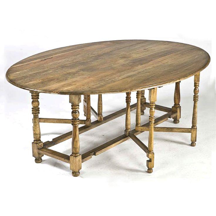 Regina Andrew Oval Drop Leaf Dining Table