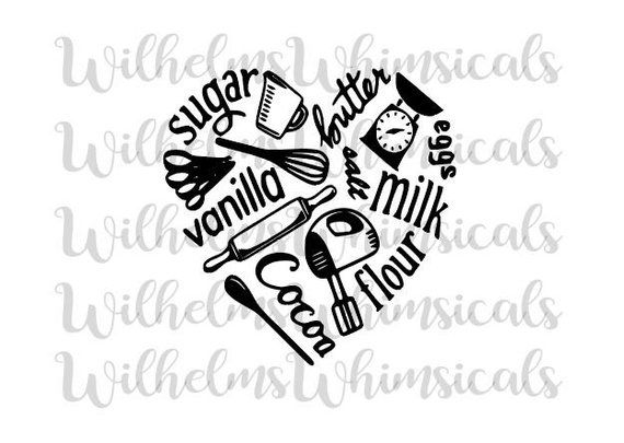 Farmhouse Kitchen Items Love Heart Shaped Flour Milk