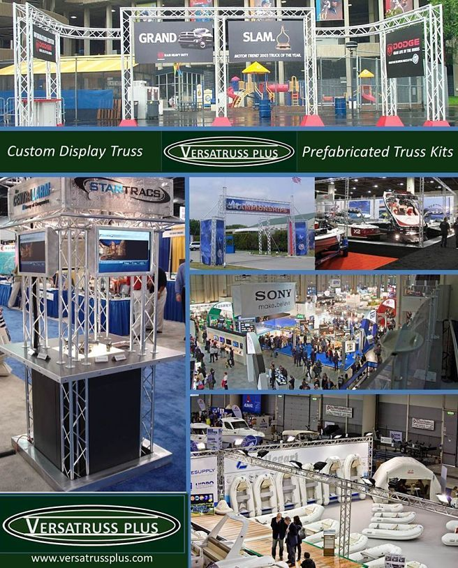 Definition Trade Show Booths  Trade Show Booths (noun)  Trade Show Exhibits (noun)  Trade show booths are typically a predefined structure or display used to present products and or services to the public or private audiences depending on the type of trade show. Many styles of trade show exist from simple back board displays and tables to complex multi-level structures. The most popular and versatile is the trade show booth manufactured from modular display truss.