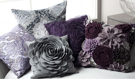 Purple is a trend right now and this is a smart way to update your space without commiting too much!