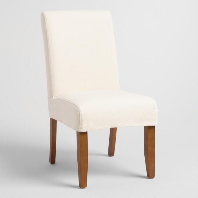 Linen Short Anna Chair Slipcover - v1