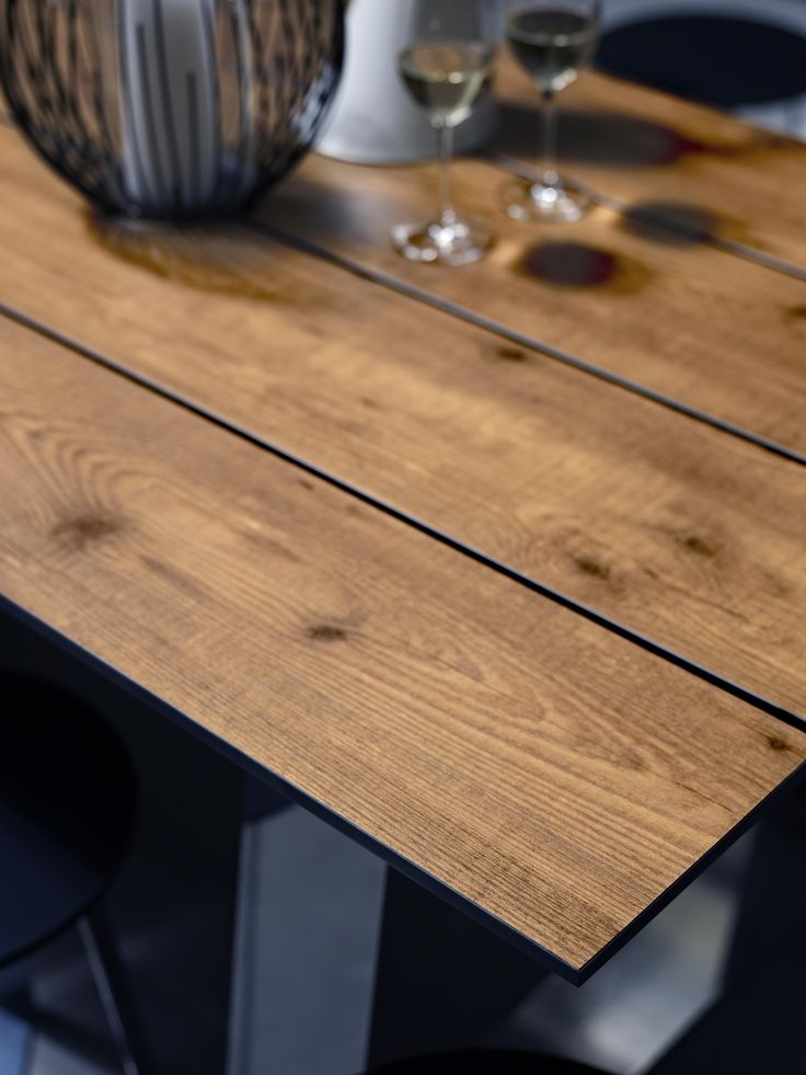 Table top Laminex Alfresco Compact Laminate Sawn Lumber. Styling Wendy Bannister. Photography Earl Carter.