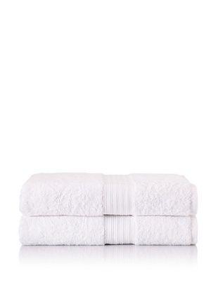 55% OFF Chortex Set of 2 Indulgence Bath Sheets, White, 35