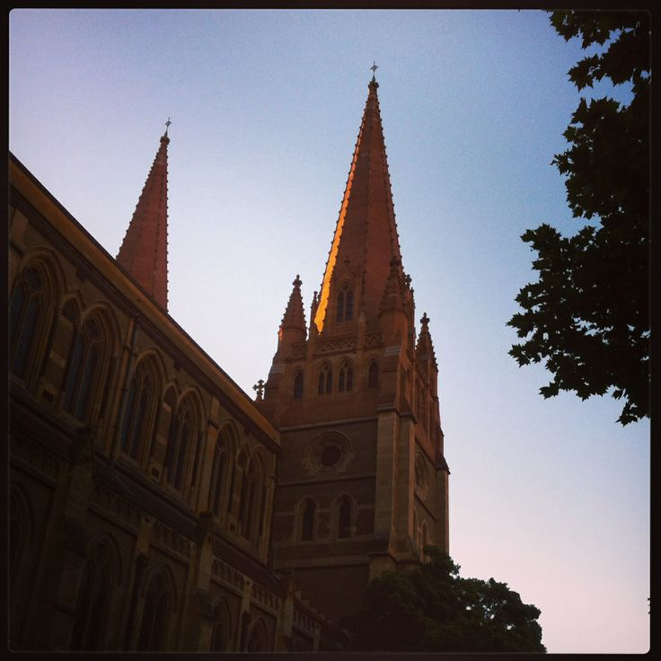 Melbourne Cathedral , sometimes it's good to reconnect spiritually