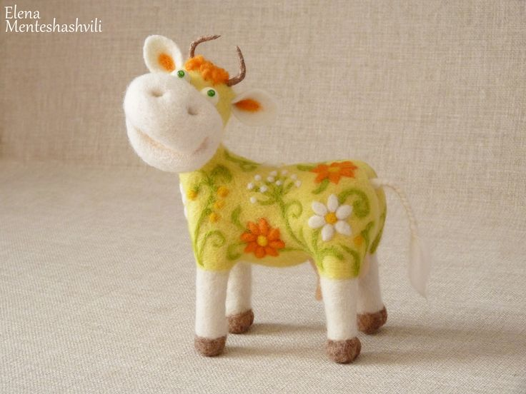 Корова.felting
