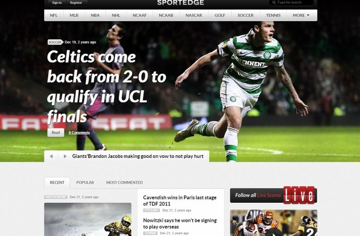 Sport WordPress Theme Sportedge  The versatile Sportedge magazine is the best sport WordPress theme we could have come up with, that's a given! See for yourself.