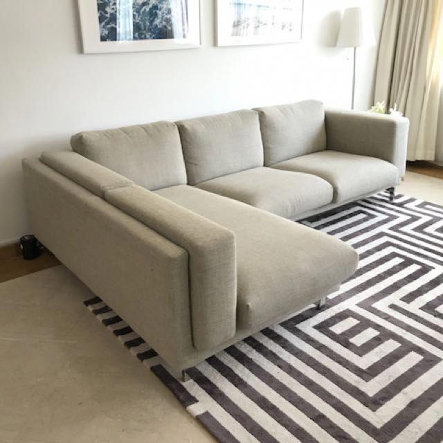 Ikea Nockeby L Shaped Sofa Furniture Sofas On Carousell Livingroomsofaideasdesigntrends L Shaped Sofa Ikea L Shaped Sofa Living Room Sofa