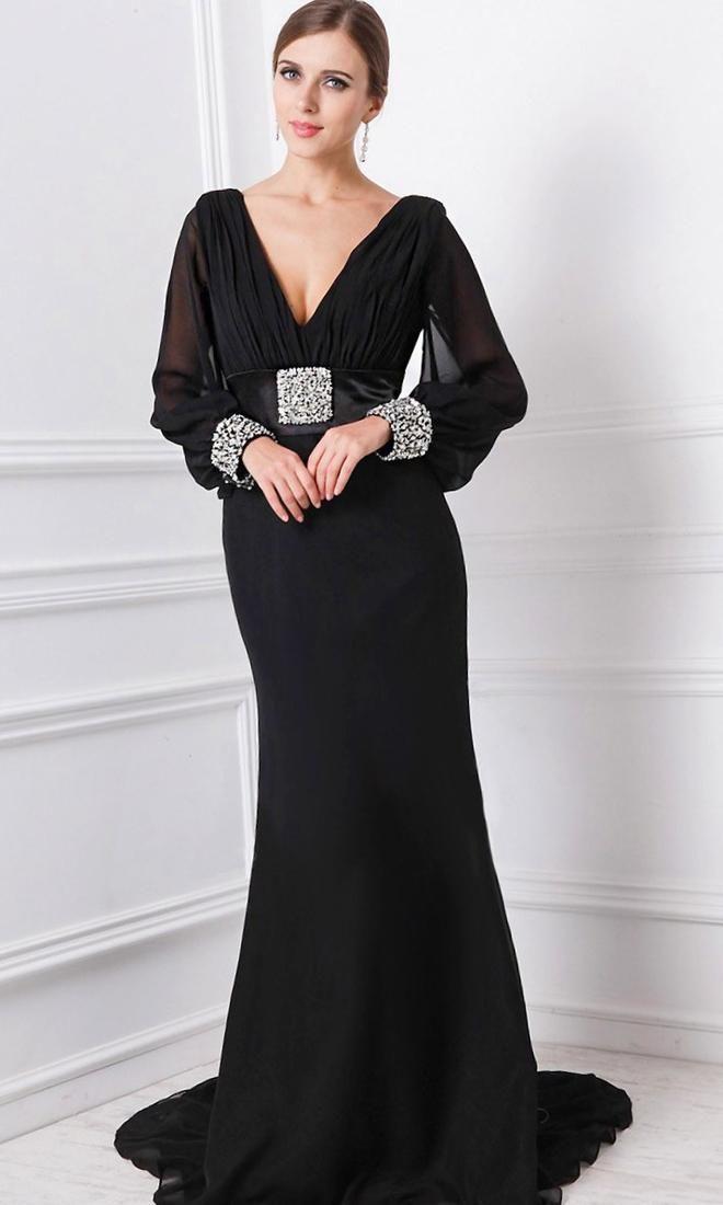 Plus size long sleeved evening dresses uk