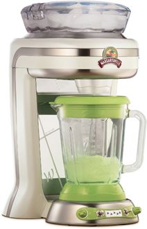 "The ""Key West"" DM1000 Margaritaville machine, a combination ice shaver and blender, is a quick and simple way to make pitchers of fruit juice smoothies and frozen margaritas."