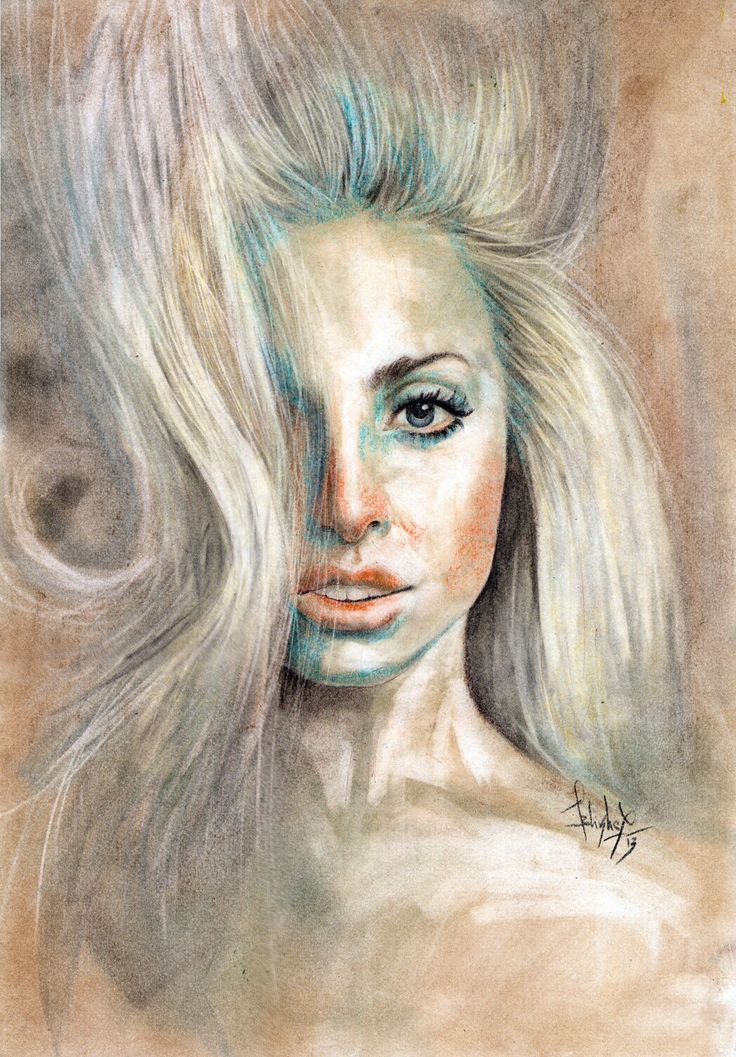 Lady Gaga Drawing Patrick Demarchelier Photo Shoot