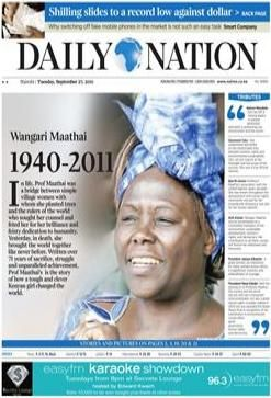 The Daily Nation is Kenya's largest newspaper. Unlike the United States where people use the internet for news, Kenyans are still used to turning the pages of a newspaper. The Daily Nation keeps Kenyans informed and up to date on political, national and international affairs. I would regularly read the newspaper not only to stay knowledgable on affairs in Kenya, but also in America and worldwide. Of course by reading as regularly as I did I was also able to build my vocabulary.
