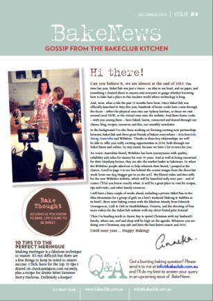 December 2013 BakeNews - BakeClub's Monthly Newsletter