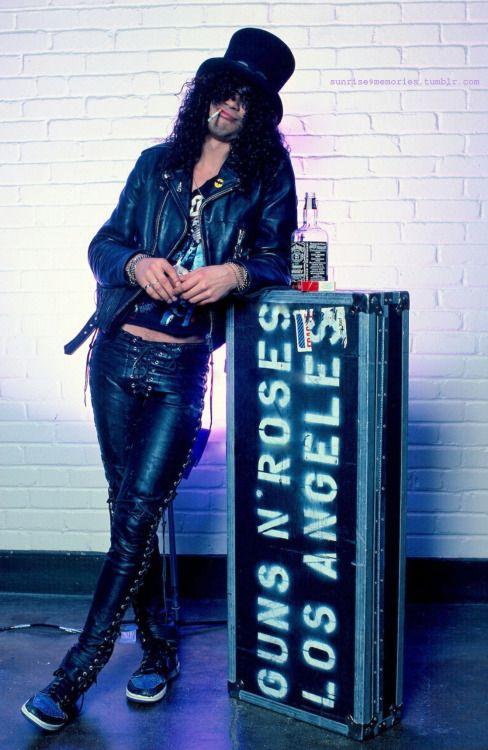 Slash, Guns N' Roses, original line-up, 1987 - #gnr #gunsnroses