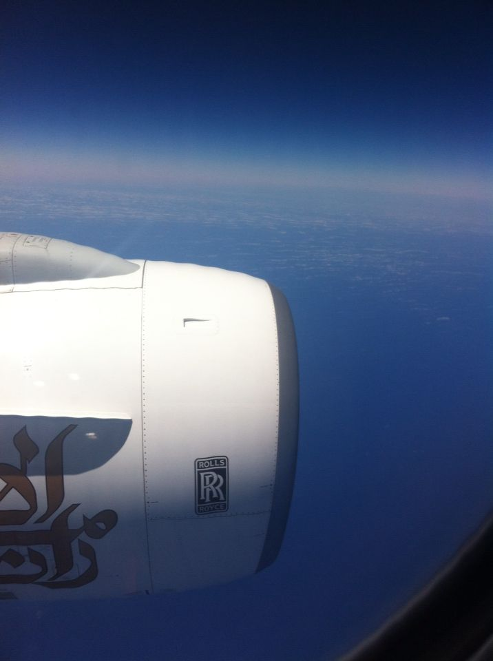 Emirates Roll Royce Fans.. They are so Huge.. LIKE A BOSS!!