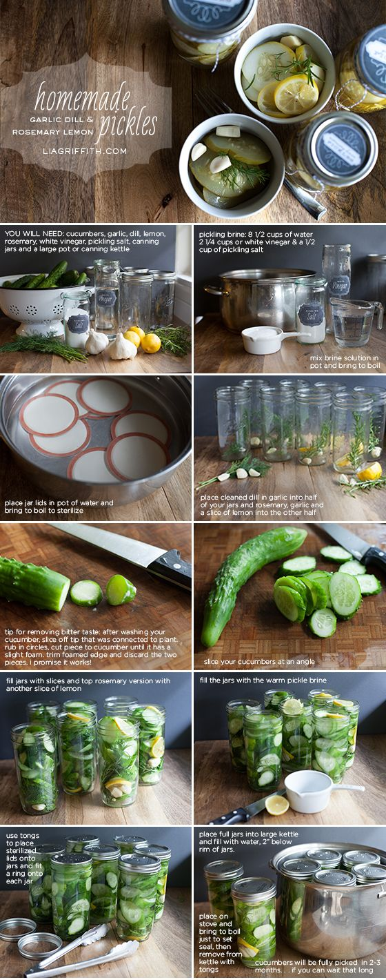 diy homemade pickles with printable jar lid labels