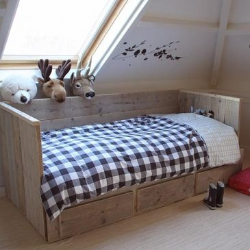 10 best Slaapkamermeubelen steigerhout images on Pinterest | Bedroom ...