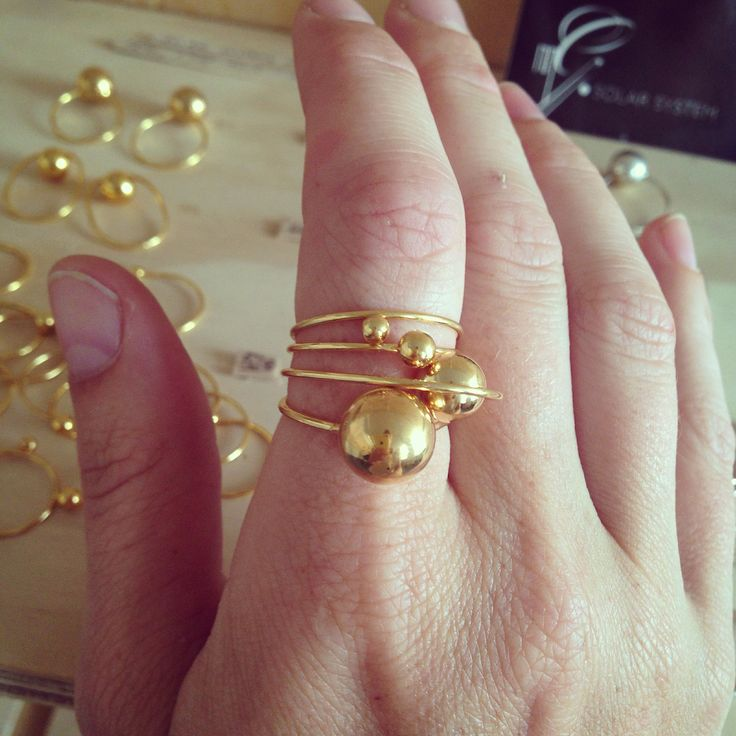 Solar system 'the set' - gold plated