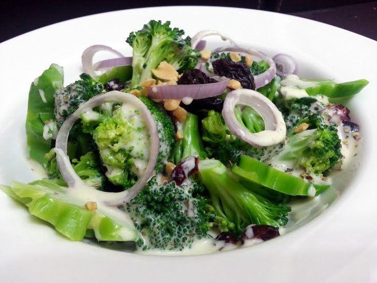Easy cold broccoli salad recipe