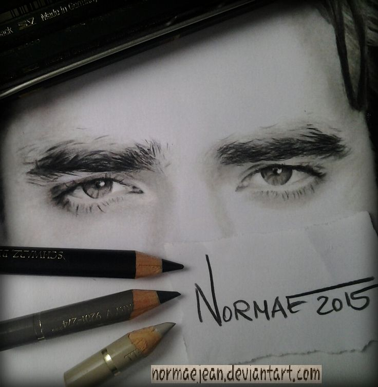 enjoy #portraitpencildrawing actor #RobertPattinson WIP2 #workinprogress #eyes #polychromos #normaearts