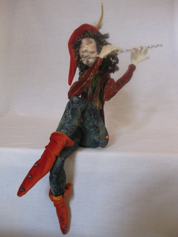 AVAILABLE OOAK art doll figure sculpture The Pied Piper needle felted