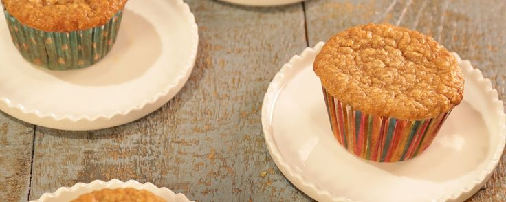 Start your day off right with these banana oat muffins!