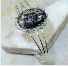 Rhodonite 925 Silver Overlay Cuff Bracelet  by AngelicEnchantments, $22.00  FREESHIPPING09 - COUPON CODE  SPEND $50 OR MORE AND RECEIVE FREE SHIPPING WITH TRACKING NUMBERS!!!