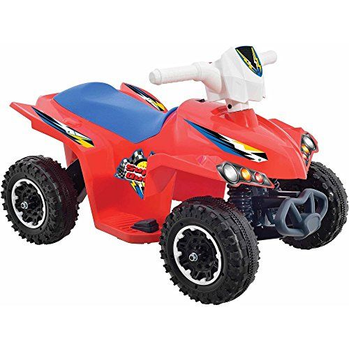 6Volt Battery Powered Wheels Kids Electric Ride On Quad Toys for Boys with AC Charger -- Visit the image link more details. Note:It is affiliate link to Amazon.