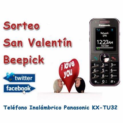Sorteo en facebook y twitter de San Valentín - Teléfono inalámbrico Panasonic KX-TU32