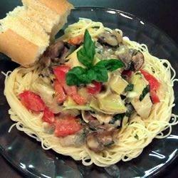 Tomato Alfredo Sauce with Artichokes - Allrecipes.com