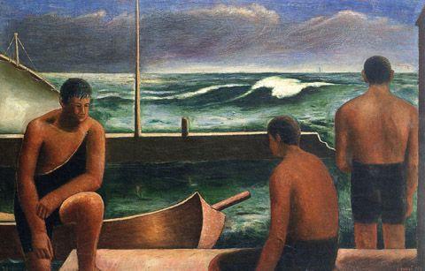I nuotatori, 1929 - Carlo Carra'