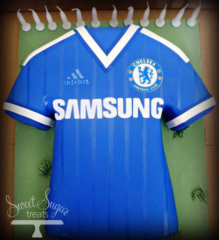 Chelsea Football Shirt Cake