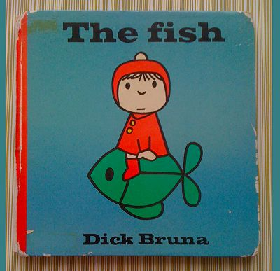 Dick Bruna (Pay Bas), The Fish, 1962 (un livre parmi les 120 qu'il a écrit et illustrés)