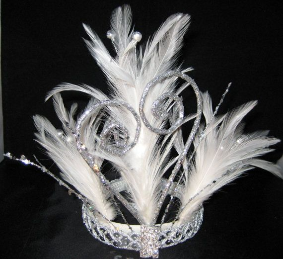 """The elegant """"Snow White"""" Tiara is one of a kind, hand made and designed by CGADORN."""