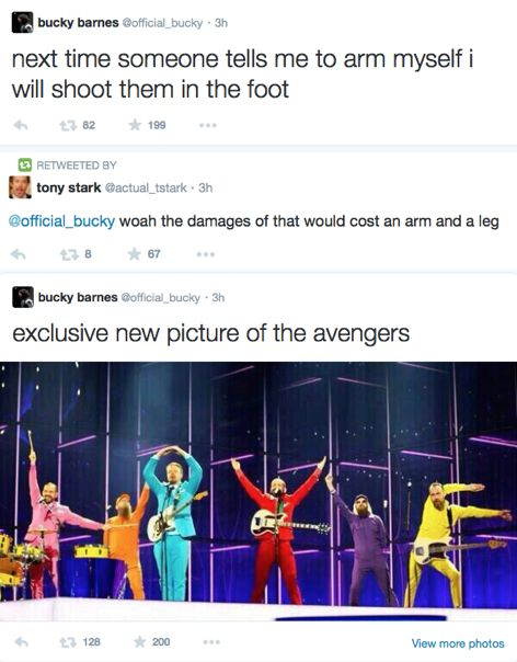 Bucky Barnes' twitter account The pic is the wiggles during Eurovision for Iceland
