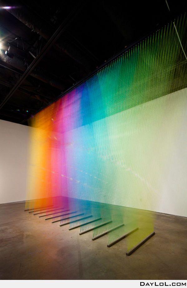 Rainbow thread -- colour shades to inspire art, design or new fused glass goodies at Latch Farm Studios www.latchfarmstudios.co.uk
