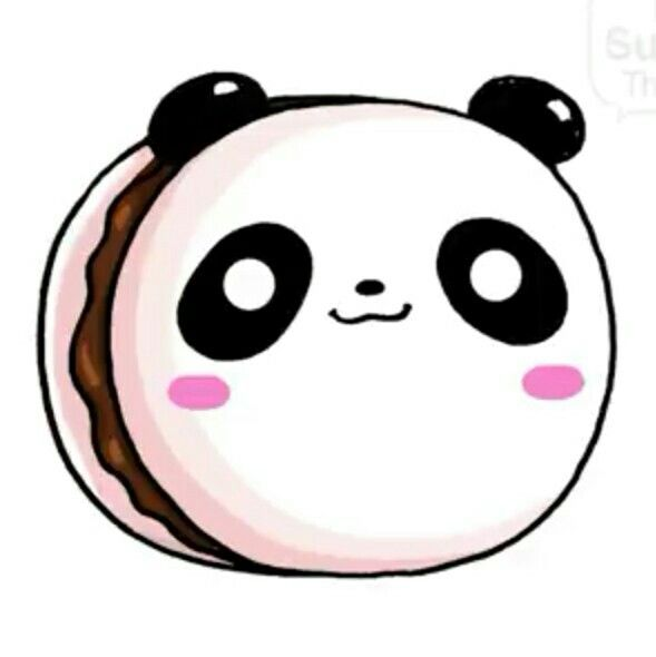 Panda Macaron Cute Cartoon Drawings Kawaii Doodles Cute Easy