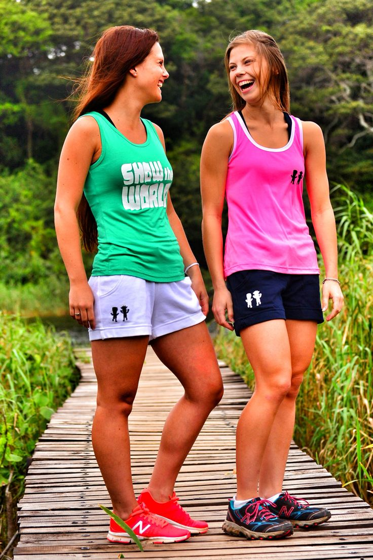 Totam ladies vest and shorts modeled by Kelly Woods & Chantal Hayes #totam