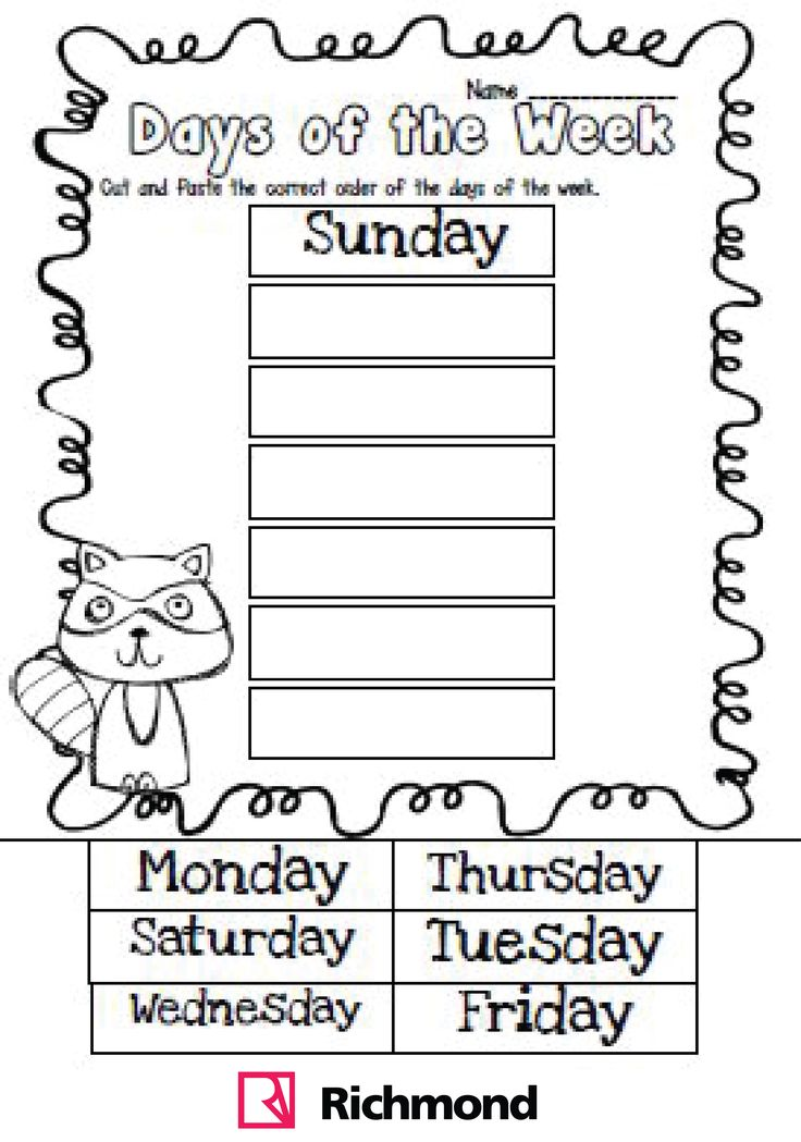 Free cut and paste worksheets for first grade