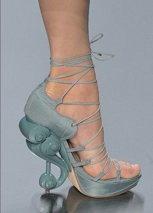 Christian Dior blue heels with wave pumps great for all the mermaids out there dig 2 ...