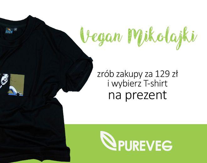 Myślicie już o Mikołajkach? Jeśli tak - mamy coś dla Was! Zasady są proste: kupujesz na www.pureveg.pl za 129 zł, klikasz w wybraną koszulkę za 1 zł i już masz produkty dla siebie, a t-shirt na Mikołajki #pureveg #veganmikolajki #koszulkawprezencie #t-shirtwprezencie