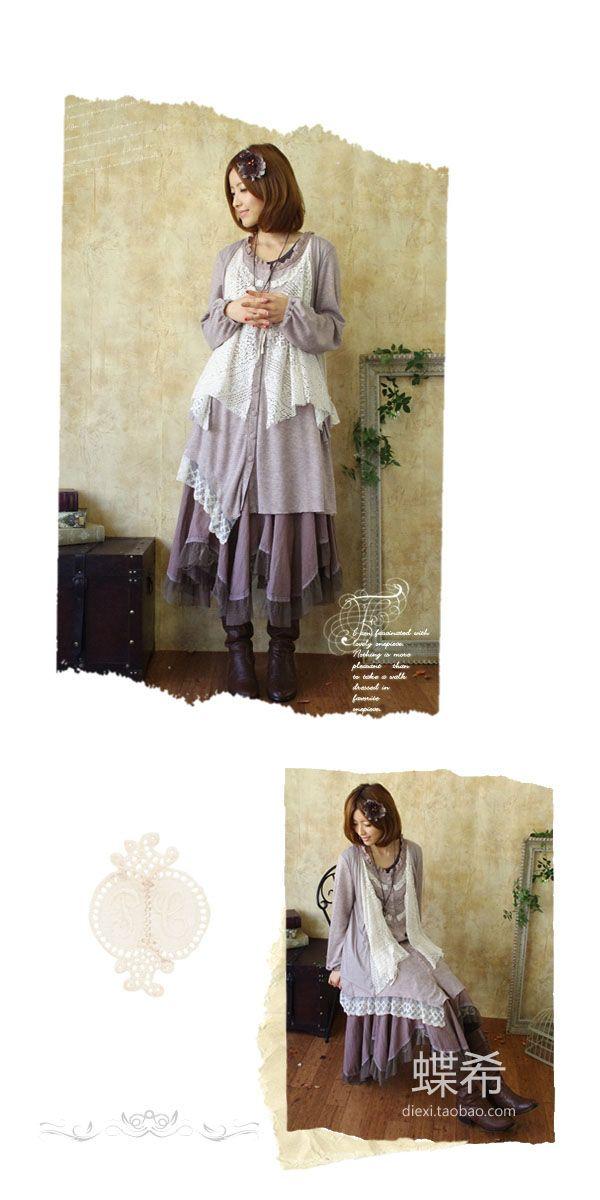 Loose fitting lace layered dress
